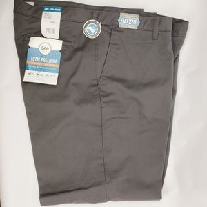 Lee Total Freedom Charcoal Mens Relaxed Fit Pants
